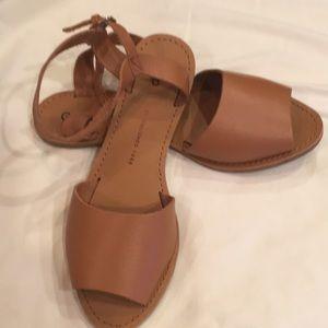Gap peep-toe leather sandals